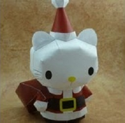 x'mas-santa-hello-kitty-papercraft