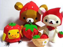 rilakkuma-strawberry-papercraft