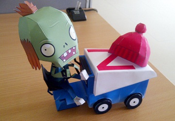 โมเดลกระดาษ-zomboni-plants-vs-zombies-papercraft