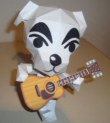 โมเดลกระดาษ-animal crossing-K.K. Slider papercraft