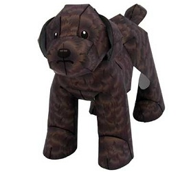 chocolate-toy-poodle-papercraft-dog-download