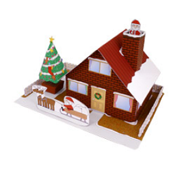 house-christmas-papercraft-download