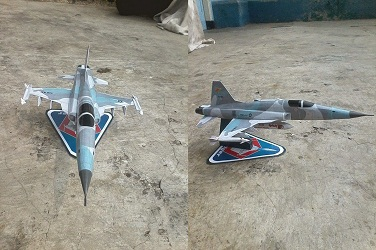 F-5 E Tiger INDONESIAN AIR FORCE-papercraft