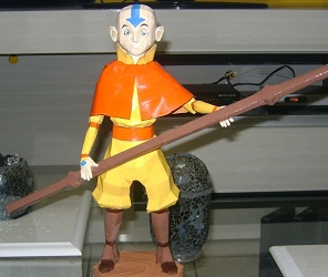 Cartoon-Avatar-Aang-Papercraft