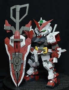 SD Astray Red Frame Gundam-paper-model
