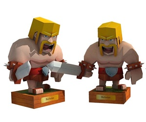 clash_of_clans-papercraft-barbarian