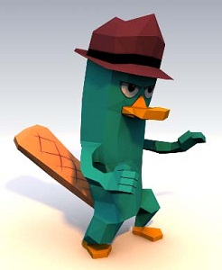 Perry-The-Platypus-Paper-Craft-Model