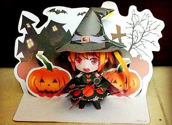 cute-papercraft-malai-witch-halloween