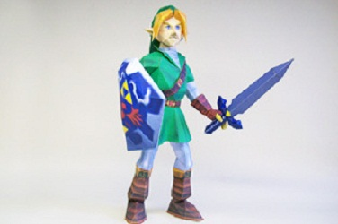 the legend of zelda papercraft