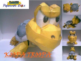 mario-game-koopa-troopa-papercraft