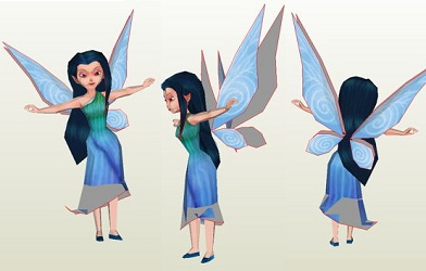 Disney-Thinkerbell-Fairies-Silvermist-Papercraft