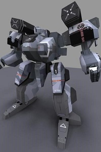 Front-Mission-Wildgoat-Mecha-Papercraft