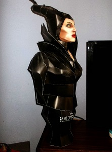 Maleficent Bust-papercraft