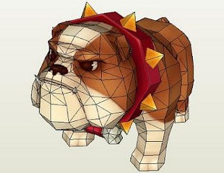 bulldog papercraft