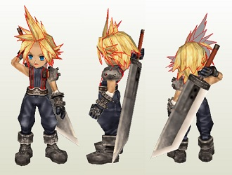 ff7-cloud-papercraft