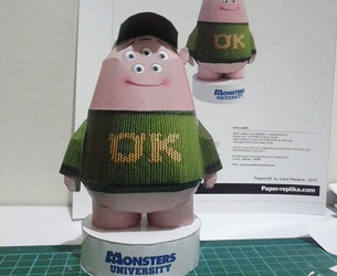 monster university-scott-papercraft