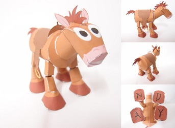 toy story papercraft - bullese horse