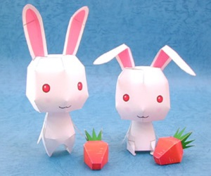 cute-rabbit-paper-craft