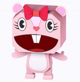 happy-tree-friends-giggles-papercraft