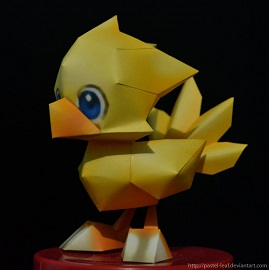 chocobo-papercraft