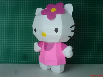 hello_kitty-paper-craft-model