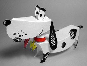 papercraft-Watusi-the-talking-dog