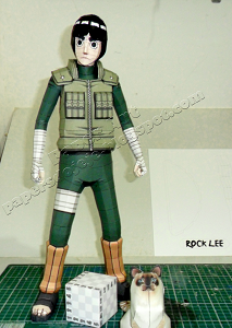 anime-naruto-rock lee-papercraft