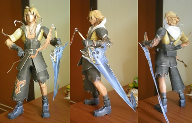 final-fantasy-tidus-papercraft