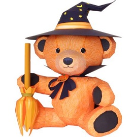 halloween-teddy-bear-papercraft