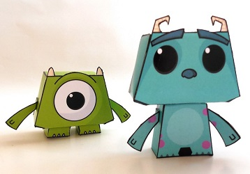 monster_inc-mike-sully-papercraft