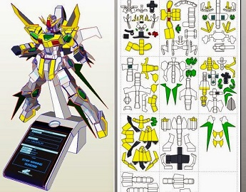 Papercraft-SD-273S Star Winning Gundam