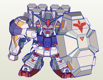 Papercraft-SD-RX-78GP02A-Gundam-Physalis