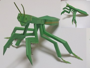 mantis-paper-craft