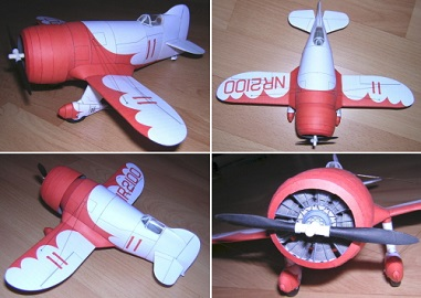 GeeBee-Airplane-r1-papercraft
