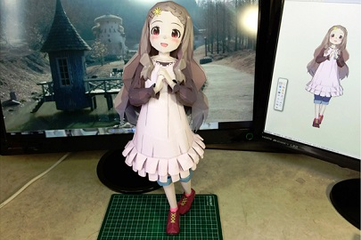 Papercraft-Encouragement of climb - Kokona-chan