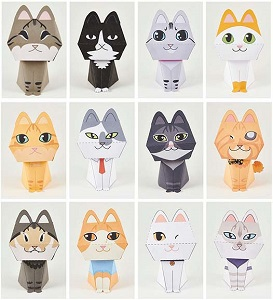 purring-cats-papercraft