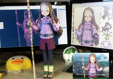 Encouragement of climb- Kokona-chan-papercraft