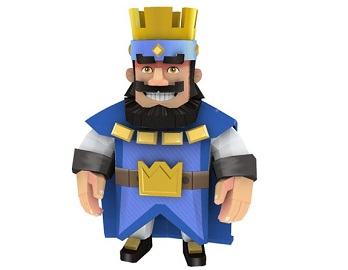 king_clash_royal_papercraft