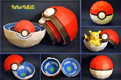 Pokeball_Paper_Toy_papercraft