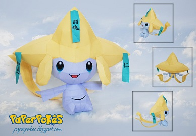 Pokemon-papercraft-Jirachi