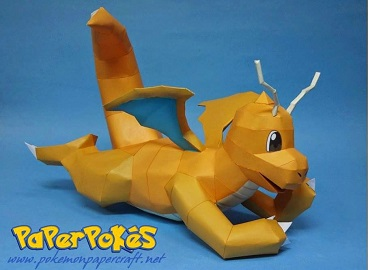 pokemon-papercraft-dragonite
