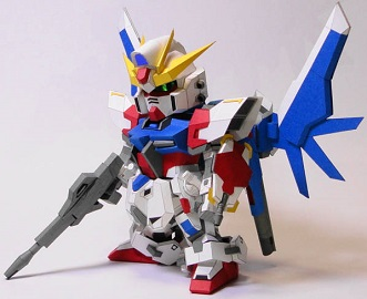 SD-GAT-X105BFP-Build-Strike-Gundam-Paper-Craft