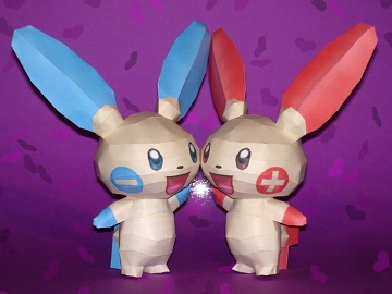plusle_and_minun_papercraft
