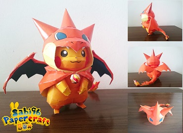 Charizard-Pikachu-paper-craft